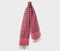 Pink Signature Stripe Check Scarf