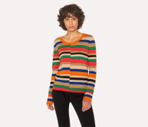 Multi-Coloured Stripe Scoop Neck Sweater
