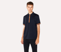 Slim-Fit Navy Cotton-Piqué Polo Shirt With 'Artist Stripe' Details