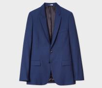 Mid-Fit Indigo Blue Wool-Mohair Blazer