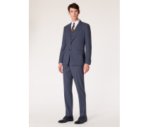 The Piccadilly - Tailored-Fit Slate Blue Wool Suit 'A Suit To Travel In'