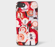 & Manchester United - 'Vintage Rosette' Print Leather iPhone 6/6S/7/8 Case