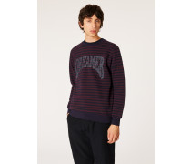 Breton Stripe Sweatshirt With Glitter 'Dreamer' Embroidery