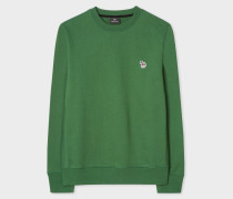 Forest Green Organic-Cotton Zebra Logo Sweatshirt