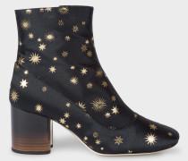 Dark Navy 'Gold Star' Jacquard 'Nira' Boots