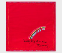 Red Rainbow 'Paul's Quotes' Pocket Square