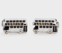 Silver London Bus Cufflinks