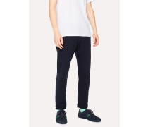 Tapered-Fit Dark Navy Denim Jeans