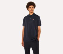 Slim-Fit Dark Navy Cotton-Piqué Polo Shirt With Embroidered 'Dreamer Frog'