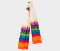 Rainbow Stripe Silk-Blend Scarf