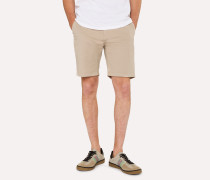 Sand Garment-Dyed Stretch Pima-Cotton Shorts
