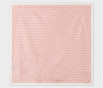 Light Pink Polka Dot Silk Pocket Square