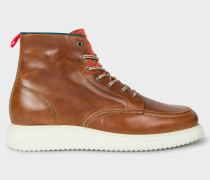 Tan 'Caplan' Leather Boots