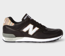 New Balance + - Black Leather 576 Trainers