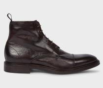 Dark Brown Calf Leather 'Jarman' Boots