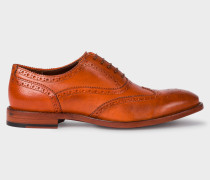 Tan Leather 'Munro' Flexible Travel Brogues