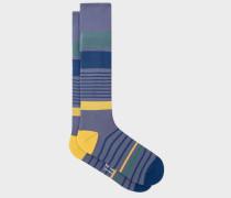 Grey Block Stripe 'A Sock To Travel In'
