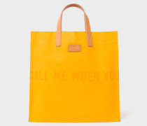 R.E.M. + Yellow Canvas Tote Bag
