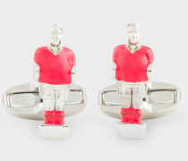 Red 'Table Football Player' Cufflinks