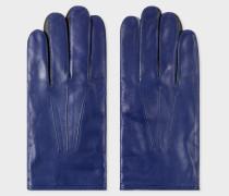 Cobalt Blue Leather Concertina Gloves