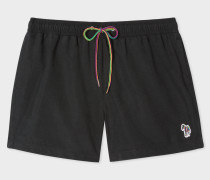 Black Zebra Logo Swim Shorts