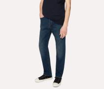 Classic-Fit Blue Rinse 11.8oz 'Super Soft Cross-Hatch' Jeans