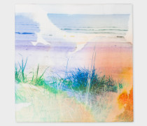 'Seaside' Photographic Print Cotton Pocket Square