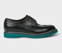 Black Leather 'Crispin' Brogues