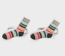 'Striped Socks' Cufflinks