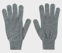 Grey Cashmere And Merino Wool Gloves