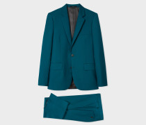 The Soho - Tailored-Fit Petrol Wool-Mohair 'A Suit To Travel In'