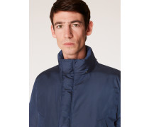 Navy Down-Filled Parka With 'Artist Stripe' Cuff Lining