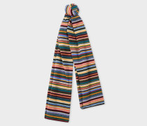 Signature Stripe Wool And Cashmere-Blend Scarf