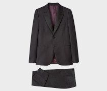 The Soho - Tailored-Fit Dark Grey Waffle Wool Evening Suit