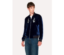 + Nick Cave For Hingston Studio - Blue Velour 'Lovely Creatures' Bomber Jacket