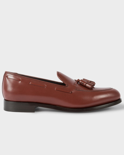 Burgundy Leather 'Simmons' Tasseled Loafers