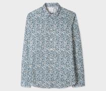Slim-Fit 'Fox Camouflage' Print Cotton Shirt