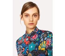 Black 'Enso Floral' Print Shirt