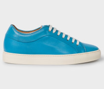 Turquoise Leather 'Basso' Trainers
