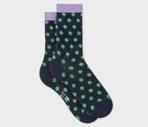 Navy 'Polka Dot' Socks