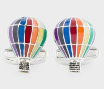 Multi-Coloured 'Hot Air Balloon' Cufflinks