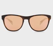 Tortoiseshell And Gold Mirror 'Hoban' Sunglasses