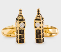 Gold 'Big Ben' Cufflinks
