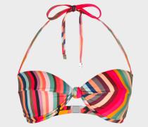 'Swirl' Print Bandeau Bikini Top