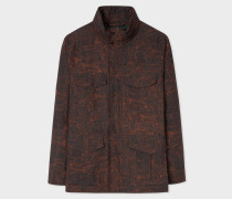 'Painted Scribble' Print Cotton-Blend Field Jacket