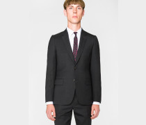 Tailored-Fit Charcoal Wool 'A Suit To Travel In' Blazer