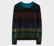 Wool And Alpaca-Blend 'Cycle Stripe' Reversible Sweater