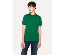 Slim-Fit Green Zebra Logo Polo Shirt With Navy Tipping