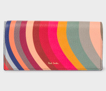 'Swirl' Print Leather Tri-Fold Purse