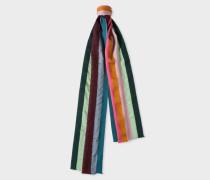 Textured 'Artist Stripe' Silk-Blend Scarf
